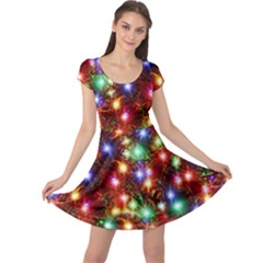 Colorful Lights Cap Sleeve Dress by CoolDesigns