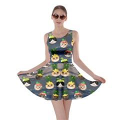Fruit  Cat Dark Skater Dress by CoolDesigns