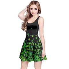 Shamrock Falling Dark Reversible Sleeveless Dress by CoolDesigns