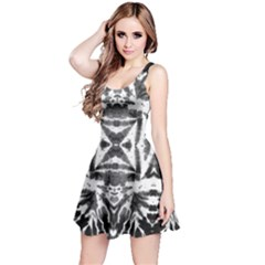 Black & White Tie Dye Reversible Sleeveless Dress by CoolDesigns