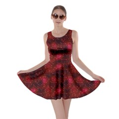Red Night Night Skater Dress