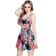 Pink Floral Sleeveless Dress by CoolDesigns