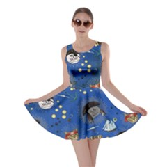 Cat Pirate Blue Skater Dress