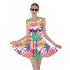 Colorful World Flamingo V2 Skater Dress by CoolDesigns