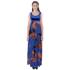 Blue Forest Empire Waist Maxi Dress by CoolDesigns
