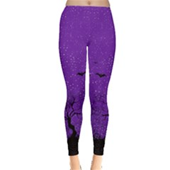 Purple Halloween Leggings  by CoolDesigns