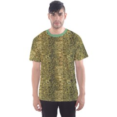 Green Leather Animal Snake Reptile Crocodile Pattern Men s Sport Mesh Tee by CoolDesigns