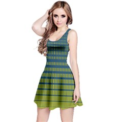 Neon Green Gradient Reversible Sleeveless Dress