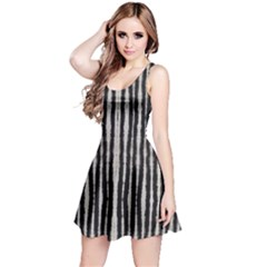 Black Strip Tie Dye Reversible Sleeveless Dress