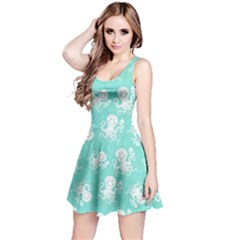 Mint Octopus Short Sleeve Skater Dress