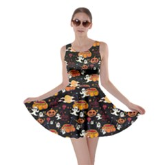 Colorful Halloween Cartoon Bright Skater Dress by CoolDesigns