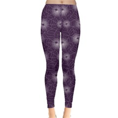 Purple Purple Spider Web Pattern Repeats Seamlessly Women s Leggings by CoolDesigns