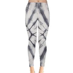 Gray Pattern Tie Dye Leggings by CoolDesigns