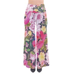 Grayfloral Chic Palazzo Pants by CoolDesigns