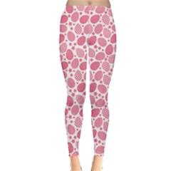 Pink Pattern Easter Eggs Leggings by CoolDesigns