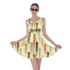 Colorful Cartoon Octopuses Pattern Skater Dress by CoolDesigns