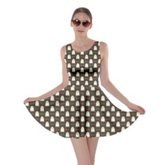 Black Halloween Pattern Layered Skater Dress
