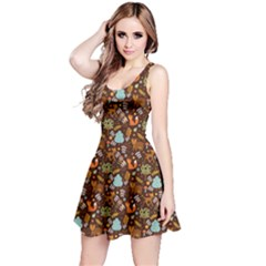 Brown Reversible Sleeveless Dress
