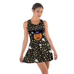 Starry Pumpkin Cotton Racerback Dress by CoolDesigns