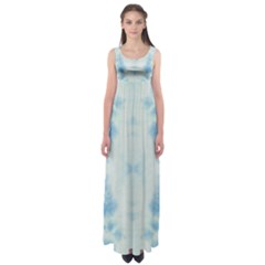Light Blue Tie Dye Empire Waist Maxi Dress by CoolDesigns