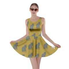 Olive Cat Skater Dress by CoolDesigns