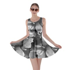 Cat Silhouettes Gray Skater Dress by CoolDesigns