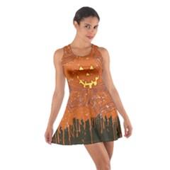 Pumpkin Face Cotton Racerback Dress