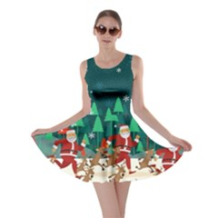 Running Santa Claus 2 Skater Dress by CoolDesigns