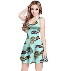 Mint Hello Dino Reversible Sleeveless Dress by CoolDesigns