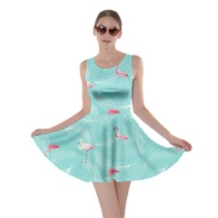 Feather Mint Flamingo V2 Skater Dress by CoolDesigns