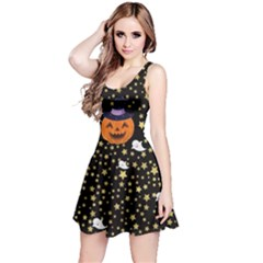 Starry Pumpkin Reversible Sleeveless Dress by CoolDesigns