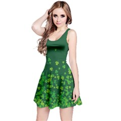 Shamrock Green Fall Reversible Sleeveless Dress by CoolDesigns