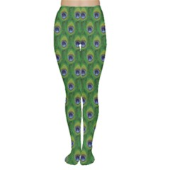 Green Peacock Feathers Women s Tights by CoolDesigns