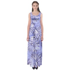 Purple Tie Dye Empire Waist Maxi Dress by CoolDesigns