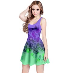 Purple&mint Sleeveless Skater Dress by CoolDesigns