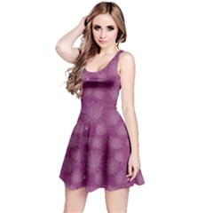Purple Halloween Spider Web Pattern Skater Dress by CoolDesigns