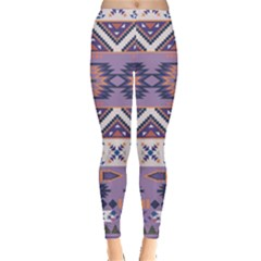 Purple Tribal Aztec Leggings