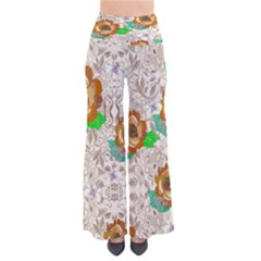 Beigepaisley Chic Palazzo Pants by CoolDesigns