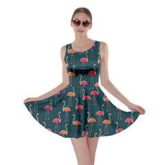 Watermelon Flamingo Skater Dress by CoolDesigns