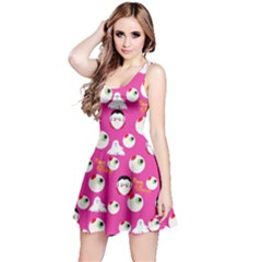 Eye Balls Pinky Reversible Sleeveless Dress by CoolDesigns