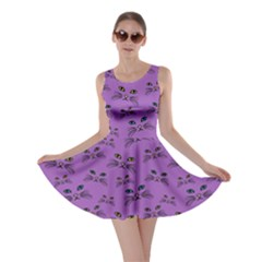 Purple Cat Face Skater Dress by CoolDesigns