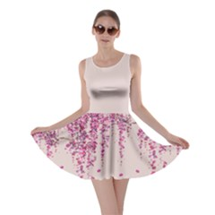 Beige Blossom Skater Dress by CoolDesigns