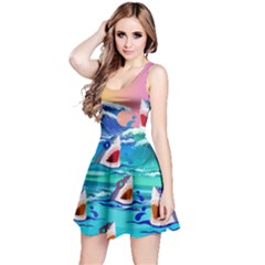 Sharks In Sea 2 Reversible Sleeveless Dress