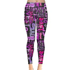 Love Text Leggings  by CoolDesigns