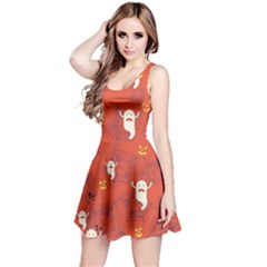 Orange Halloween Reversible Sleeveless Dress by CoolDesigns