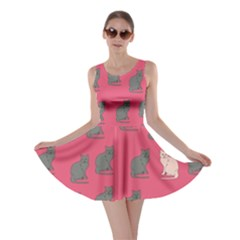 Hot Pink Cat Skater Dress