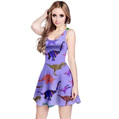 Colorful Dino Reversible Sleeveless Dress by CoolDesigns
