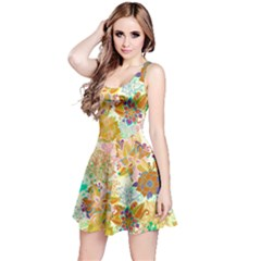 Yellow Floral Sleeveless Dress by CoolDesigns