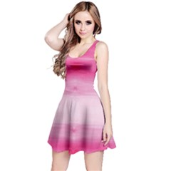 Hot Pink Strips Tie Dye Sleeveless Dress