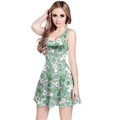 Mint Pattern Doddle Kawaii Sleeveless Skater Dress by CoolDesigns